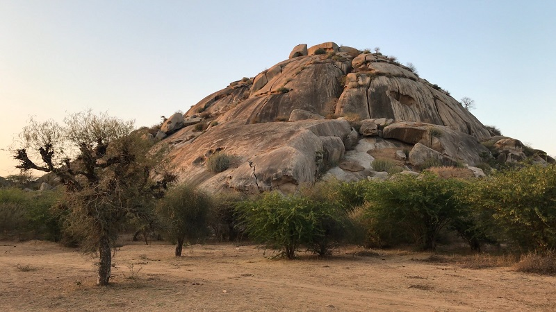 Varawal Leopard Camp Bera Rajasthan Aravli hill and rock boulders
