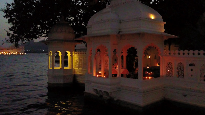 Udaipur Hotel Amet Haveli photo of the location for your romantic dinner at Badi Mahal
