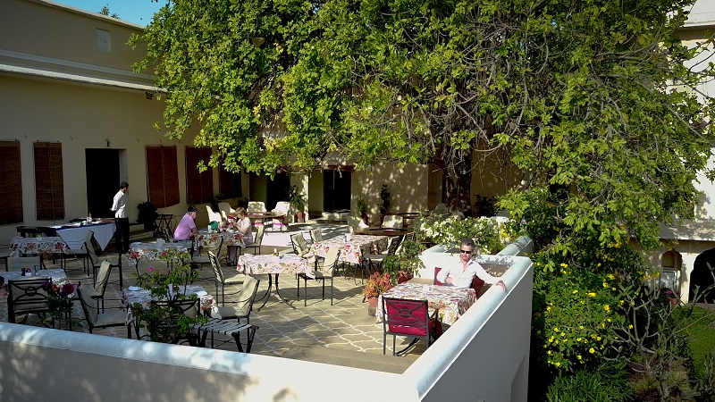 Royal Heritage Haveli Jaipur Rajasthan luxury hotels photo of rooftop terrace restaurant