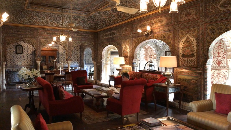 Samode Haveli Jaipur Rajasthan luxury hotels spectacular photo of interior