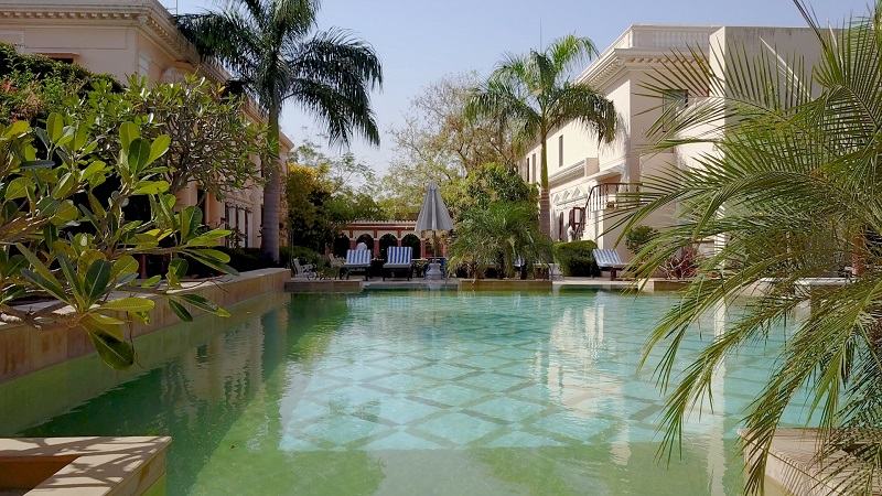 Royal Heritage Haveli Jaipur Rajasthan luxury hotels photo of swimming pool