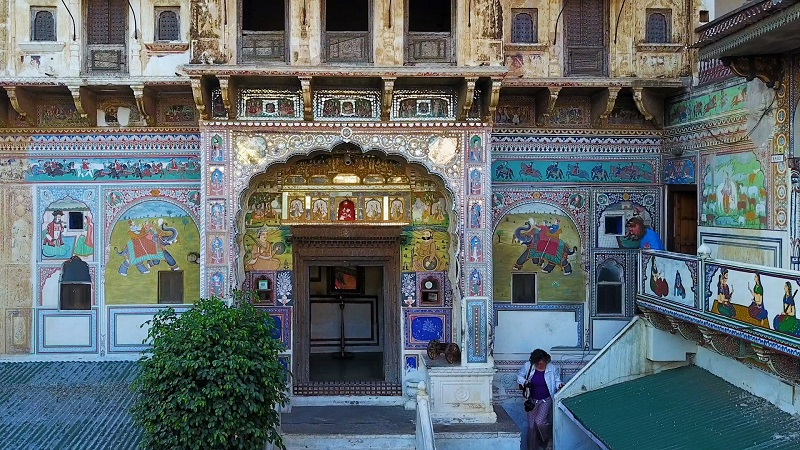 Mandawa Haveli Shekhawati region Rajasthan photo of colourful entrance archway