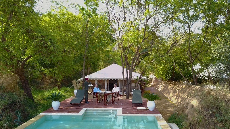Ranthambhore Hotel Sherbagh photo of Royal tented suite from outside