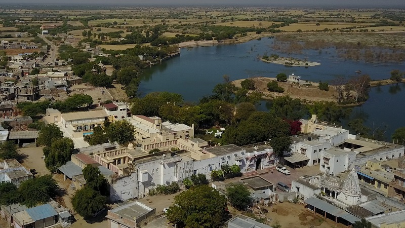 Rohet Garh Jodhpur heritage hotel Rajasthan incredible drone photo of the whole of Rohet